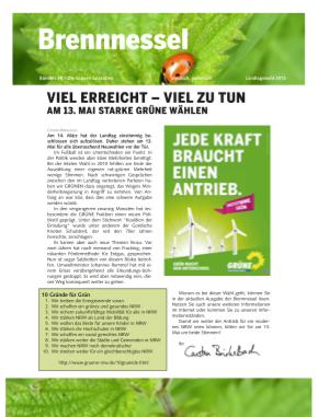 Brennnessel zur Landtagswahl 2012